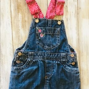 Genuine Kids Embroidered Bib Overall Dress